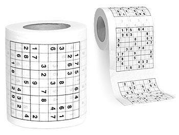 Sudoku en el lavabo sin necesidad de periódico