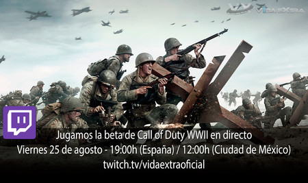 Streaming de Call of Duty WWII hoy a las 19:00h (las 12:00h en Ciudad de México) [finalizado]