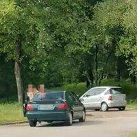 Un padre se pone a hacer de profe de autoescuela con su hija y acaban llevándose por delante varios vehículos