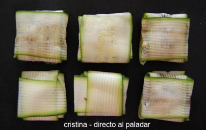 Raviolis de calabacín rellenos de shiitakes