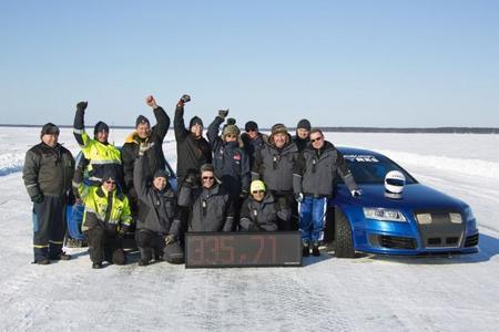El Audi RS6 de los 336 km/h sobre hielo