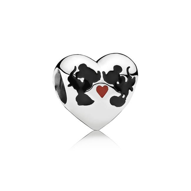 Pandora Beso De Minnie Mickey Charm En Plata De Primera Ley Y Esmalte 49eur