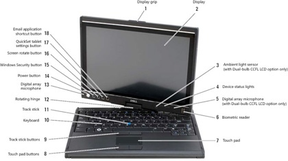 Especificaciones del Dell Latitude XT