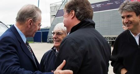 F1 British Gp 2012 Jacques Rogge Ioc President With Bernie Ecclestone Ceo Formula One Grou