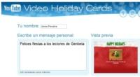 Envía una postal de Navidad en vídeo con Youtube