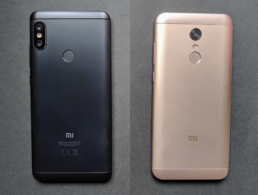 Diseno Redmi Note 5 Vs