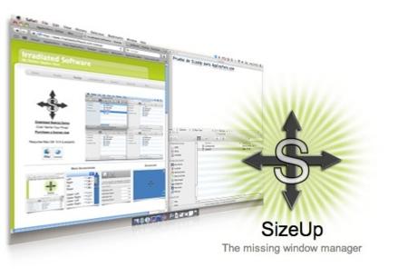 SizeUP, gestor para la ubicación y tamaño de las ventanas de aplicaciones