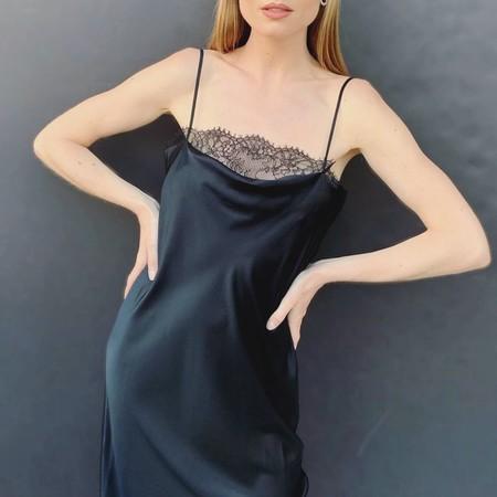 Vestido Lencero Negro 14