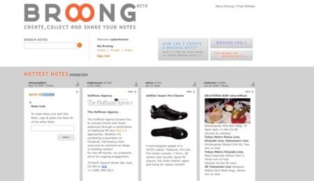 Broong, comunidad en torno a las notas multimedia
