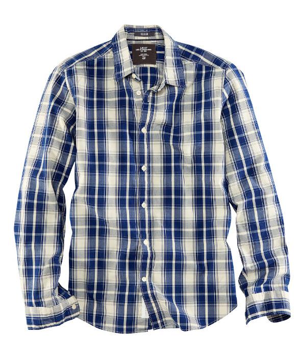 Camisa cuadros azul H&M Primavera 2013