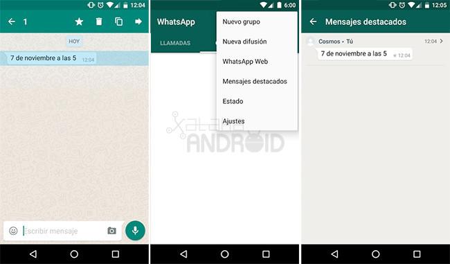 Empfohlene WhatsApp Nachrichten