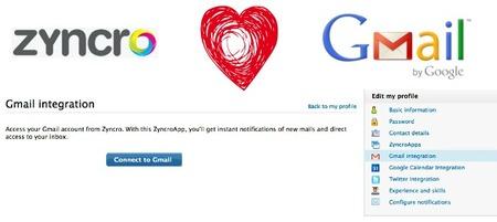 Zyncro se integra ahora también con Gmail