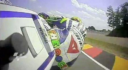 Cámara giroscópica en la moto de Valentino Rossi