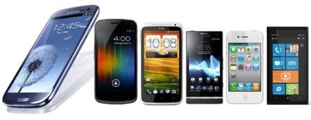 Comparamos el Samsung Galaxy SIII con sus mayores rivales comerciales