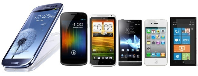 Samsung Galaxy S III vs Samsung Galaxy Nexus vs HTC One X vs Sony Xperia S vs Apple iPhone 4S vs Nokia Lumia 900