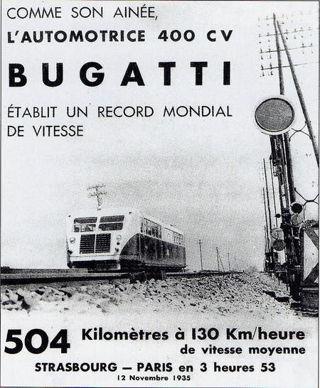 Bugatti tren record