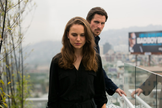 Natalie Portman y Christian Bale en Knight of Cups