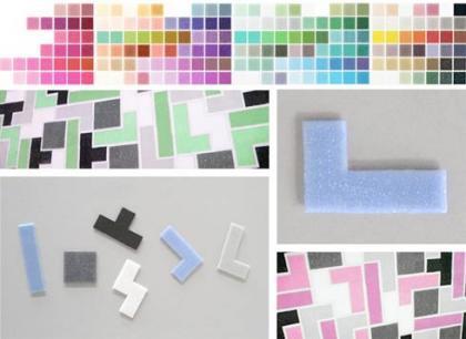 Curiosos azulejos inspirados en el Tetris