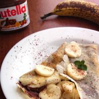 Crêpes de plátano y Nutella. Receta