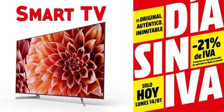 Las 19 mejores ofertas en smart TVs en el día sin IVA de MediaMarkt