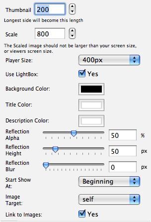 opciones del plugin
