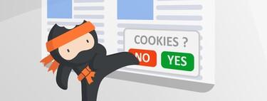 Ninja Cookie es una extensión para Chrome, Firefox y Safari que elimina para siempre los avisos de cookies
