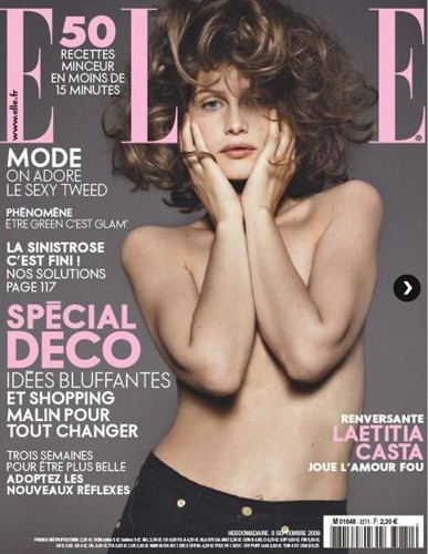 Laetitia Casta posa desnuda para Elle