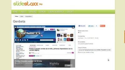 Slidestaxx: crea presentaciones a partir de diferentes recursos de la web