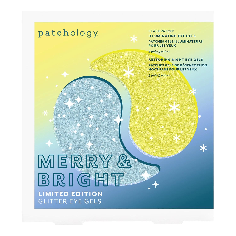 Parches de gel para los ojos en versión glitter navideña de Patchology