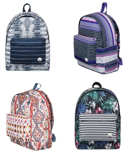 Super Weekend en eBay: por sólo 14 euros podemos hacernos con uno de estos 4 modelos de mochila Roxy Be Young. Envío gratis