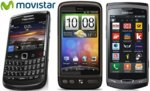 Precios HTC Desire HD, Blackberry Bold 9780 y Samsung Wave II con Movistar