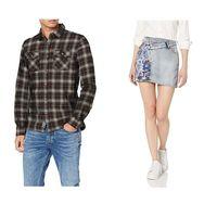 Chollos en tallas sueltas de pantalones, camisetas y faldas de marcas como Superdry, Pepe Jeans o Desigual en Amazon