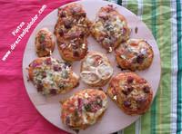 Mini pizza casera variada. Receta