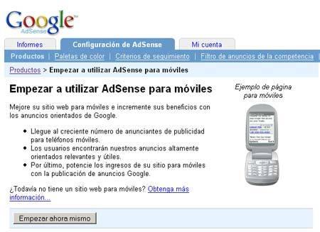 Google Adsense para móviles oficialmente lanzado