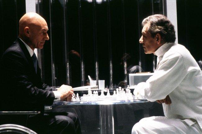 Patrick Stewart e Ian McKellen en una escena de X-Men