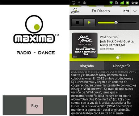 Maxima FM Radio app