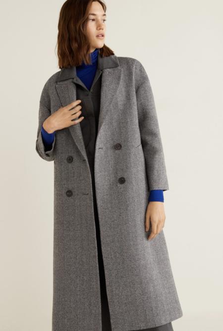 Abrigo lana desestructurado