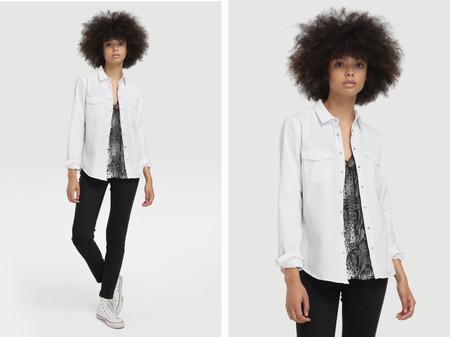 Camisa Vaquera Basica De Mujer Easy Wear