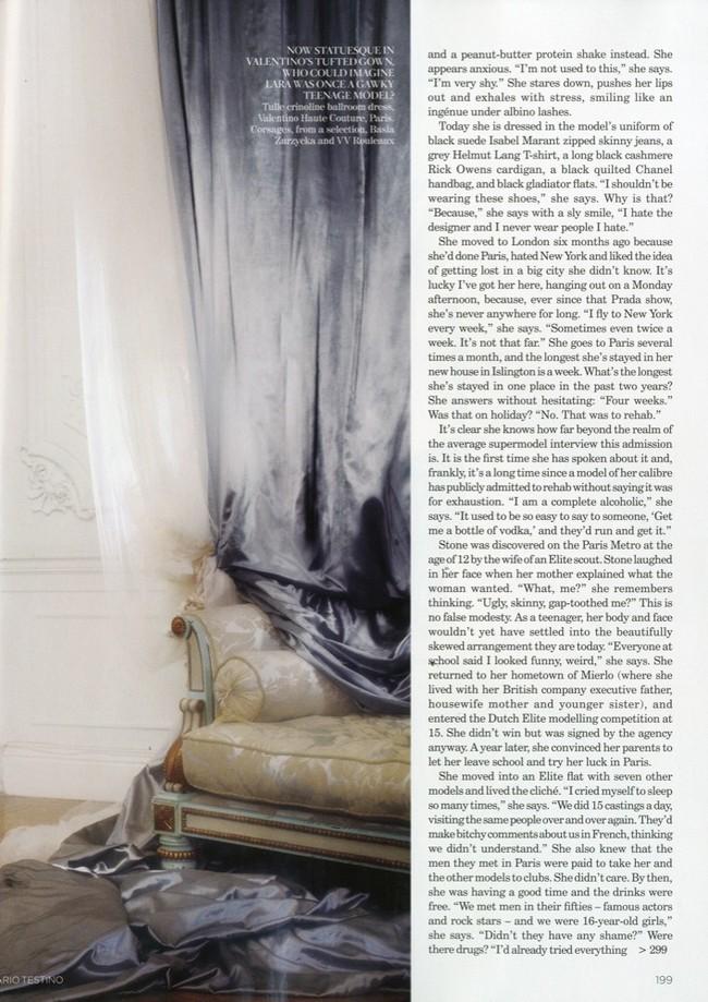 Foto de Lara Stone es la mujer del año para Vogue UK (7/10)