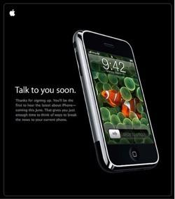 """Apple comienza a enviar emails sobre el iPhone: """"Hablaremos pronto""""."""