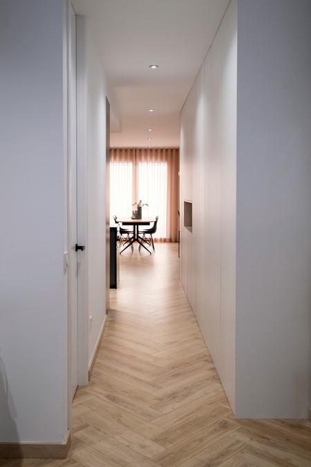 Diseno Vivienda Reforma Integral Gran Via Valencia Pasillo Peanut Design Studio Enue Construccion 3