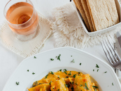 Canelones rellenos de espinacas. Receta vegetariana fácil