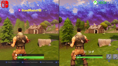 Fortnite En Nintendo Switch Frente A La Version De Xbox One X En Una