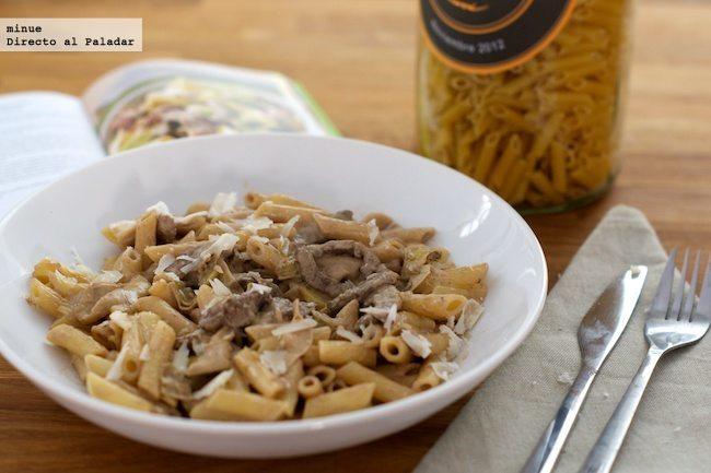 Pasta con salsa de mascarpone y ternera - presentación