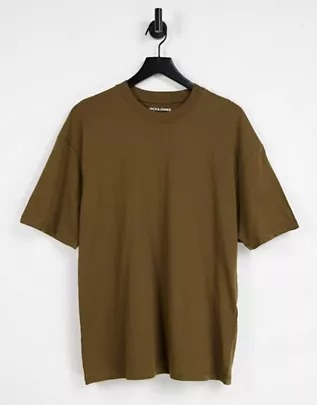 Camiseta marrón extragrande de Jack & Jones Originals