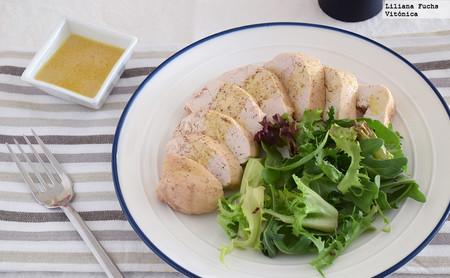 Pechuga de pollo jugosa al miso. Receta saludable