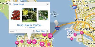 Flickr Maps, Flickr obtiene geolocalización con Yahoo! Maps