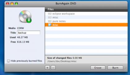 BurnAgainDVD: Sesiones en tus CDs y DVDs
