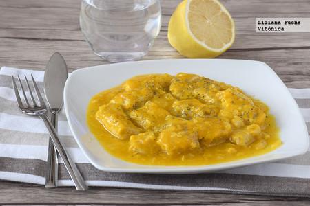 Atún en salsa de mango al curry. Receta saludable