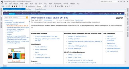 Visual Studio 2012RC